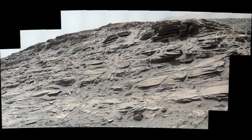 Mars, sol 1033, white balanced