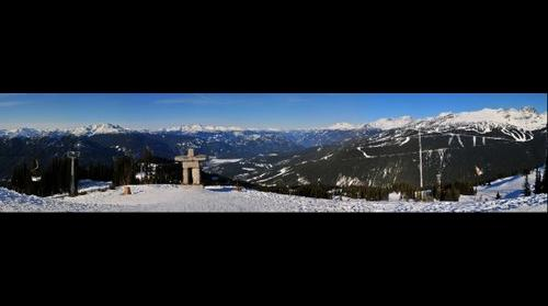 2010 Winter Olympics - Statue at the Peak of Whistler Mountain