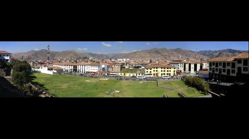 View of Cusco from Quorikancha