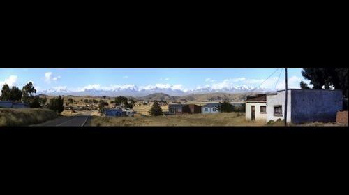 Andes range near Huatajata, Bolivia