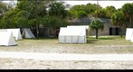 Civil War Camp, Fort DeSoto Park, Tampa Bay, Florida, USA