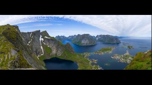 Lofoten Islands - Top view from Reinebringen