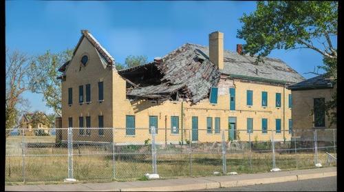 Roof collapse, Fort Hancock, Sandy Hook, NJ