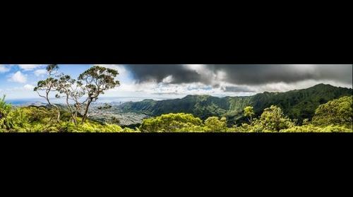 Honolulu and Diamond Head from Mt. Olympus