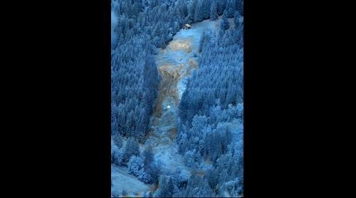 Pont Bourquin Landslide Infrared