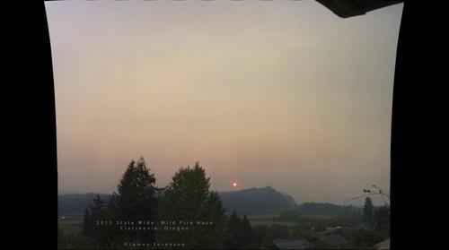 Summer 2015 wild fire haze from Clatskanie, Oregon (High Detail)
