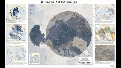 Arctic maritime reference map