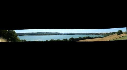 Panorama na Chmielno i jezioro Biale