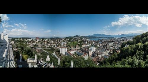 Luzern vom Hotel Château Gütsch aus