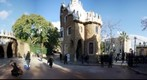 Entrance to the Parc Güell - by Gaudi, Barcelona, Spain