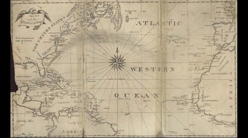 Chart of the Atlantic Ocean