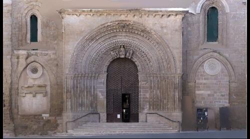 Portalada romànica de Santa Maria d'Agramunt (ortofoto)