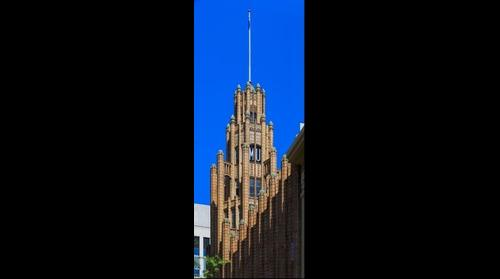 Manchester Unity Building Tower from Swanston Street, Oct 13, 2015