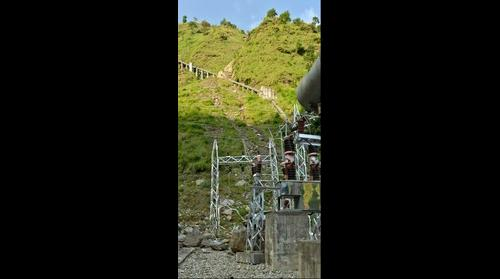 Rockfall impacts penstock and powerhouse, 2015 Nepal-Gorkha Earthquake