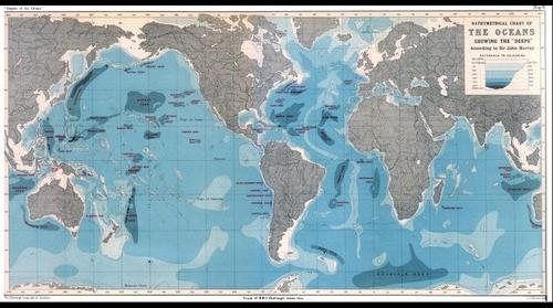 Bathymetrical Chart of the Oceans