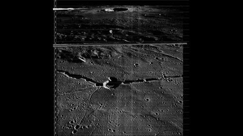 Lunar Orbiter 3 image Frame 3073