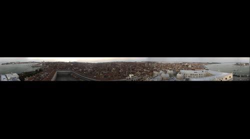 Panorama de Venecia desde la cima del Campanile de San Marcos. Panorama of Venice from the Campanile