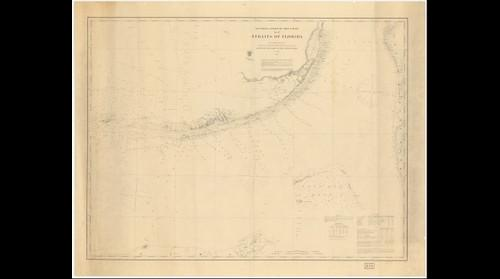 U.S. Coast Survey chart of the Straits of Florida (1868)