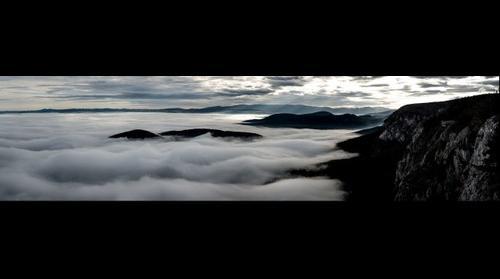 Hohewand über dem Nebel