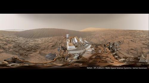 MSL Curiosity Sol-1197 Namib Dune 360 Panorama