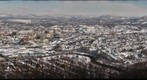 Roanoke Valley covered with snow
