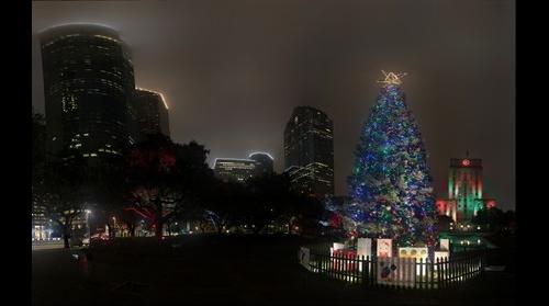 City Of Houston Mayor's Tree Christmas Eve Night at City Hall Houston, TX