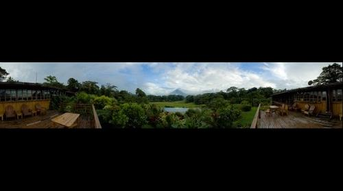 Arenal Volcano view from Arenal Lodge Deck -  Costa Rica