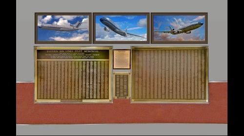 Eastern Airlines Pilots Memorial - Atlanta Hartsfield-Jackson International Airport - Atlanta, Georgia - USA with ADDENDA and NEW Framed Plane images