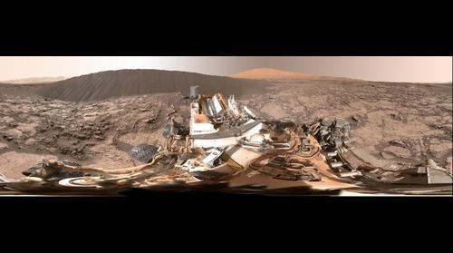 NASA's Curiosity Rover Full-Circle Panorama Beside 'Namib Dune' on Mars