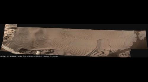 MSL Curiosity Sol-1121 Mastcam-34 Namib Dune Sampling Workspace