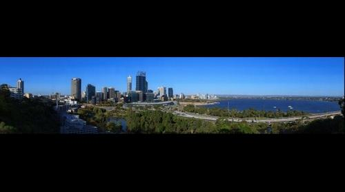 Perth Skyline from Kings Park Viewing Platform, Feb 28, 2015 from 5:14pm to 5:39pm