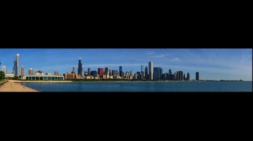 Chicago Skyline from Northerly Island, Jul 1, 2014 from 8:54 to 9:04am