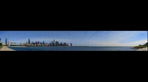 Chicago Skyline from Northerly Island, Jul 1, 2014 from 9:10 to 9:41am
