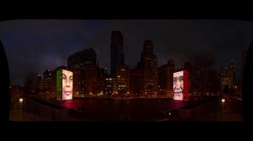 Crown Fountain in Chicago's Millennium Park