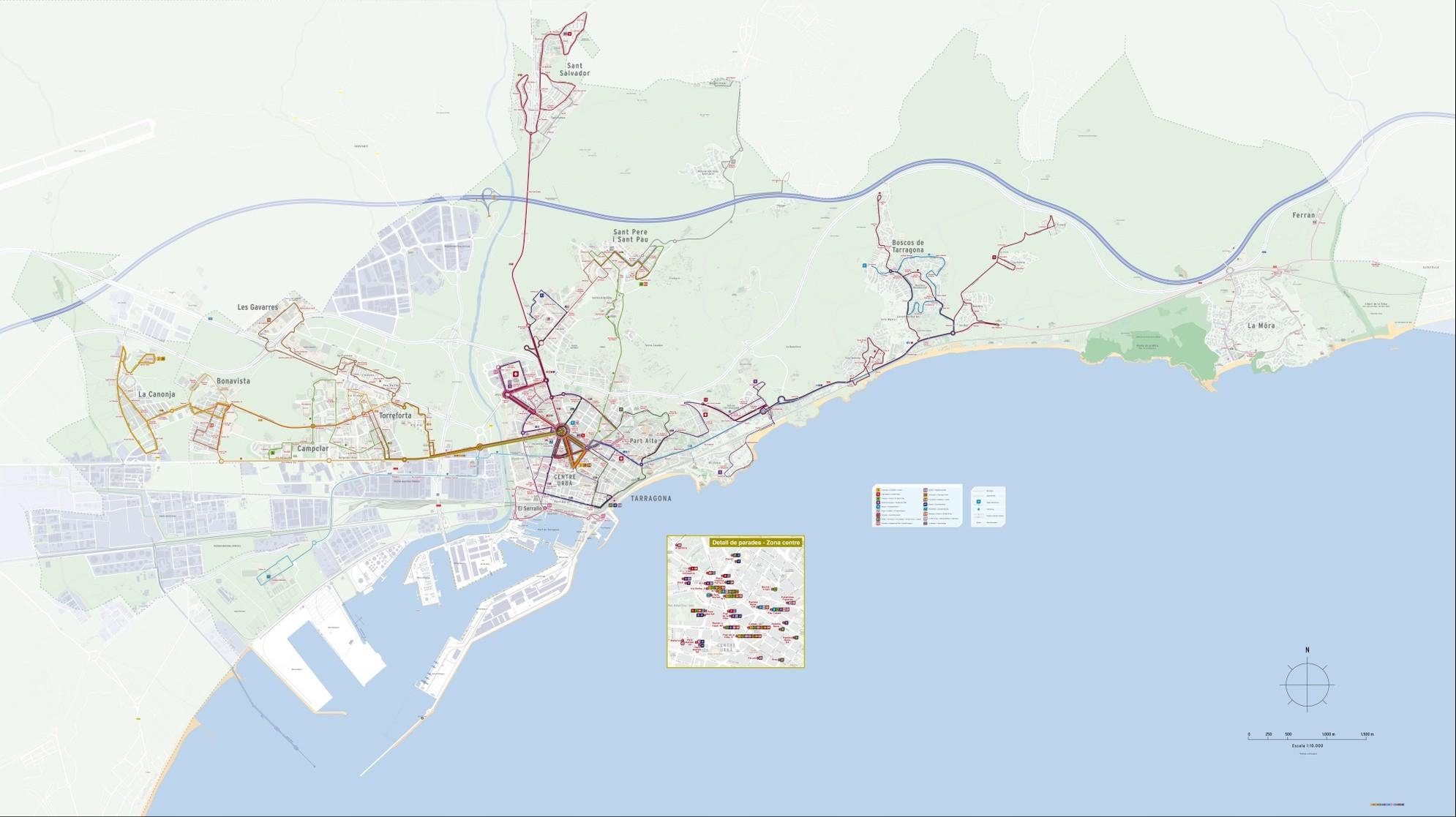 Xarxa d'autobusos urbans de Tarragona - 10Feb2015