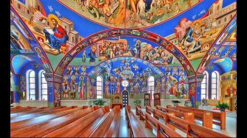 St Archangel Michael Serbian Orthodox | Left perspective - Lansing, IL