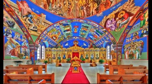 St Archangel Michael Serbian Orthodox | Front perspective - Lansing, IL