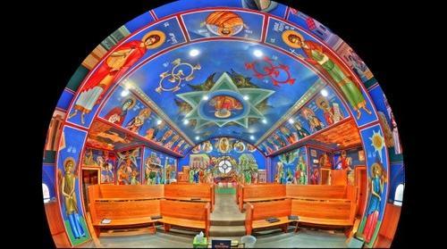 St Archangel Michael Serbian Orthodox Church | Choir Loft fisheye - Lansing, IL