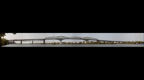 Champlain Bridge, Montréal to Brossard Québec
