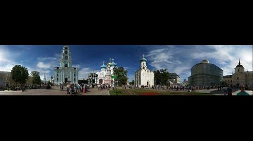 This photo - view to Trinity Lavra of St. Sergius in Sergiyev Posad, Russia - taken by Shikov Volodya