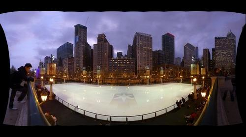 McCormick Tribune Plaza and Ice Rink in Chicago's Millennium Park