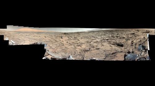 Mars, sol 1282, white balanced