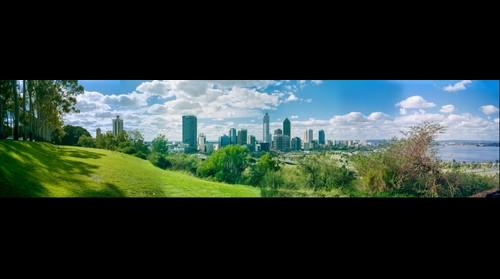 Perth Skyline from Kings Park (proof) May 27, 1995