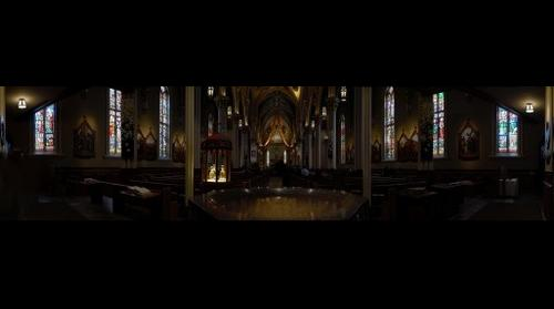 Sacred Heart Basilica Notre Dame - Unedited blend from back