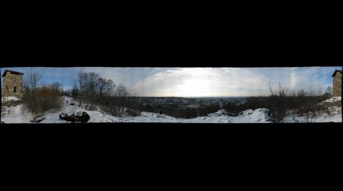 Middlesex Fells--Looking at Boston from Wright Tower