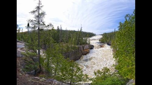 Silver Falls (High Falls) during spring runoff