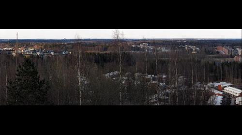 View northeast from Malminkartano hill