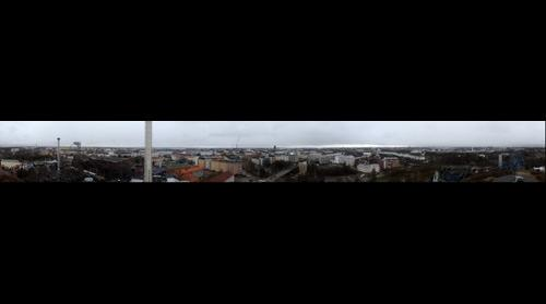 360 panorama of Helsinki from Linnanmäki panorama tower