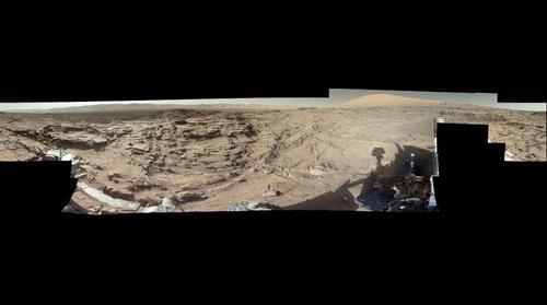 Mars, sol 1302, white balanced