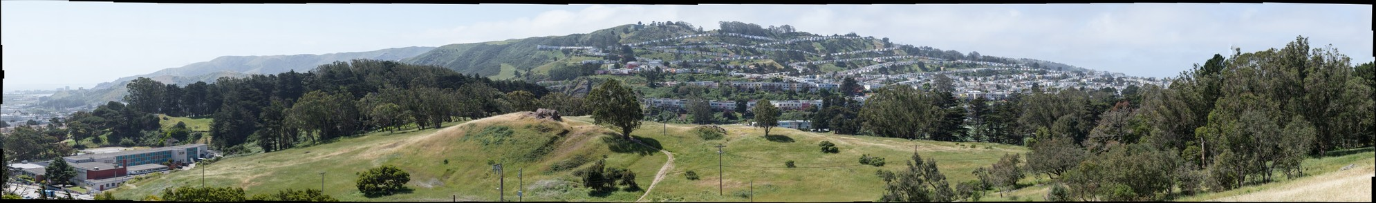 John McLaren Park - View to South from Above Golf Course - 300mm